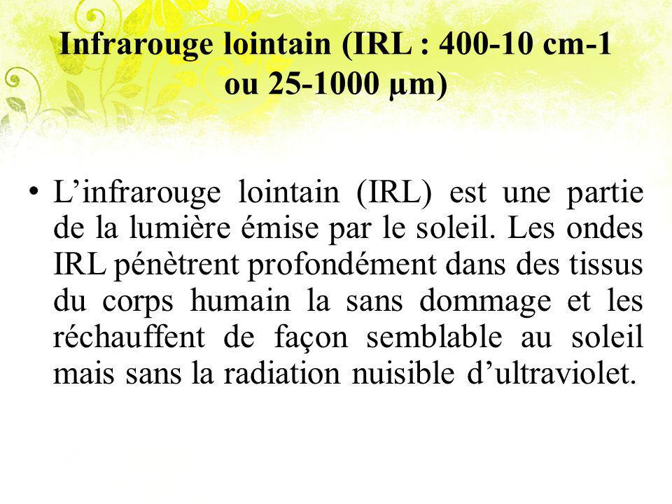 Infrarouge lointain (IRL : 400-10 cm-1 ou 25-1000 µm)