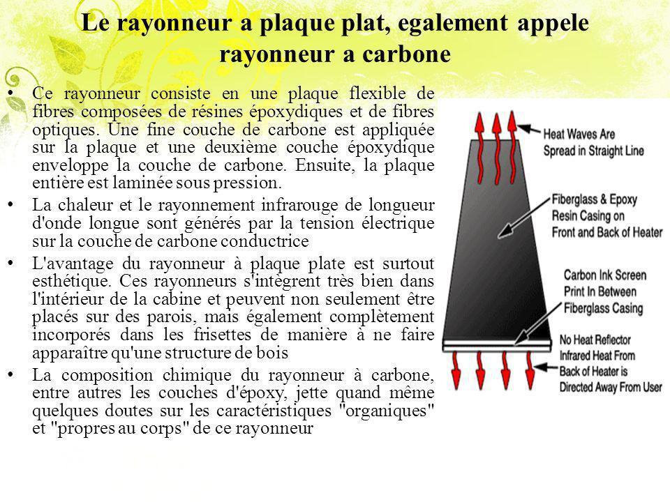 Le rayonneur a plaque plat, egalement appele rayonneur a carbone