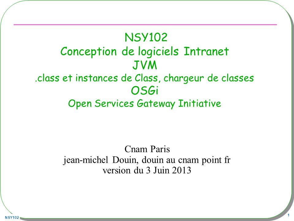 NSY102 Conception de logiciels Intranet JVM