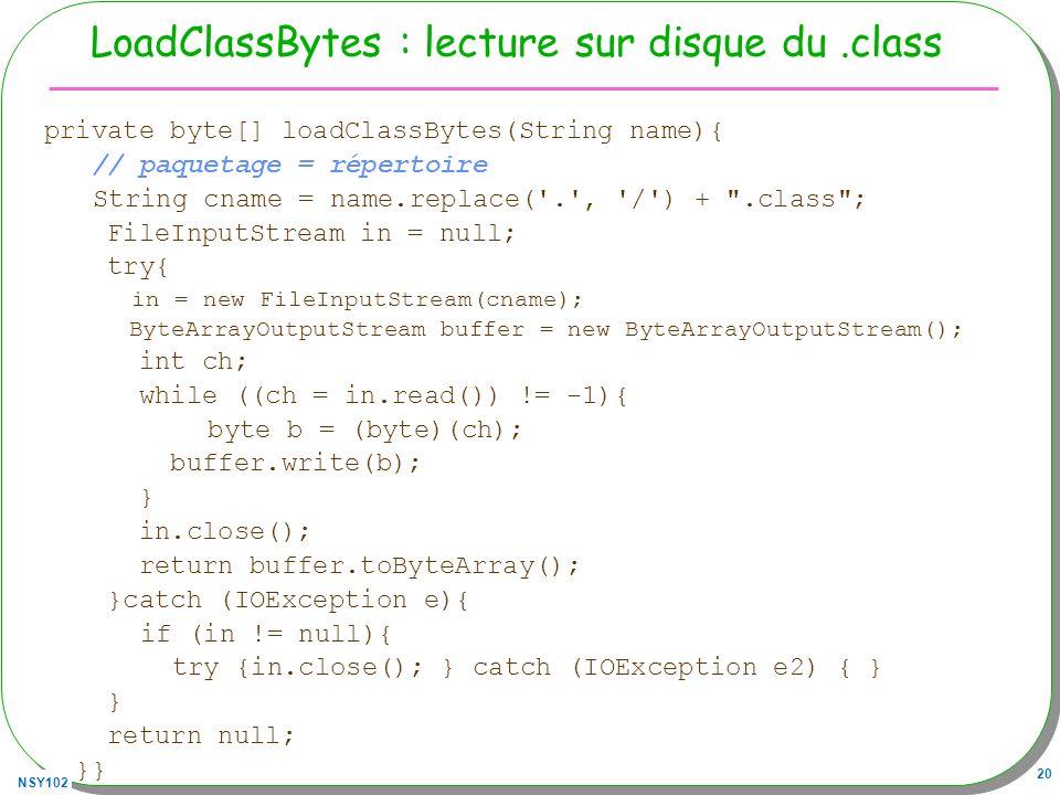 LoadClassBytes : lecture sur disque du .class