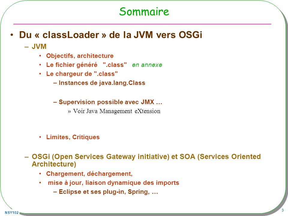 Sommaire Du « classLoader » de la JVM vers OSGi JVM