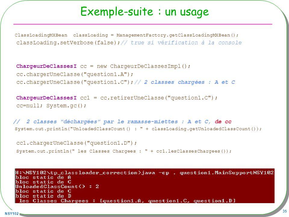 Exemple-suite : un usage
