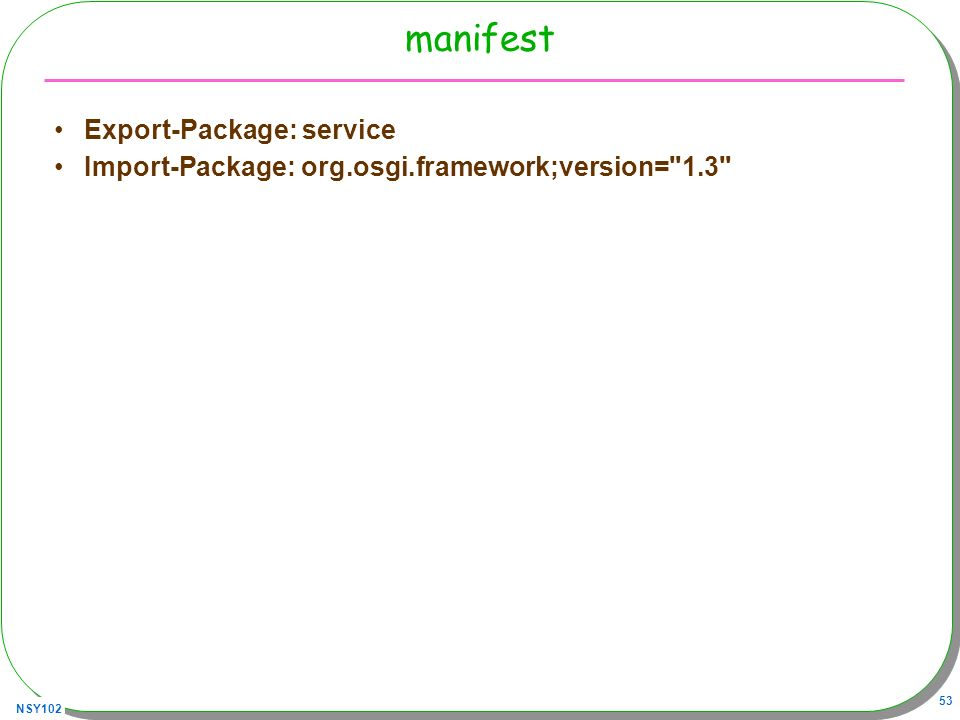 manifest Export-Package: service