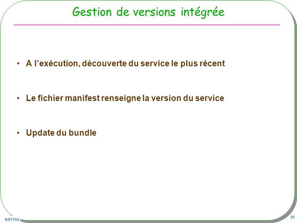 Gestion de versions intégrée