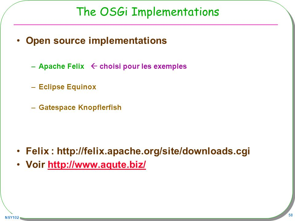 The OSGi Implementations