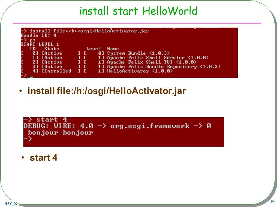 install start HelloWorld