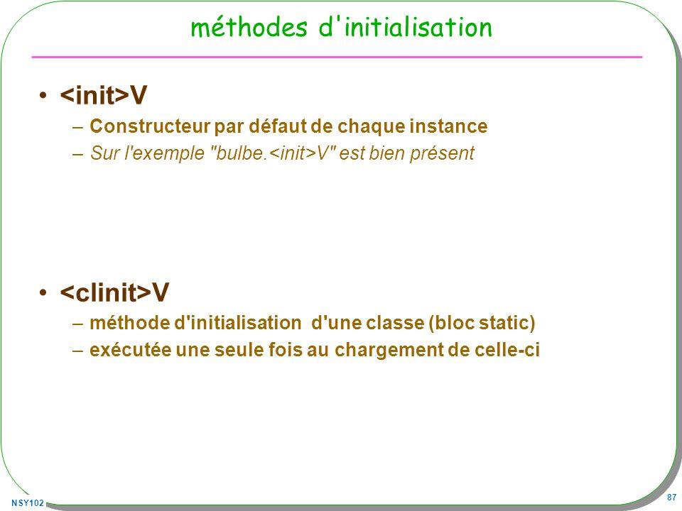 méthodes d initialisation
