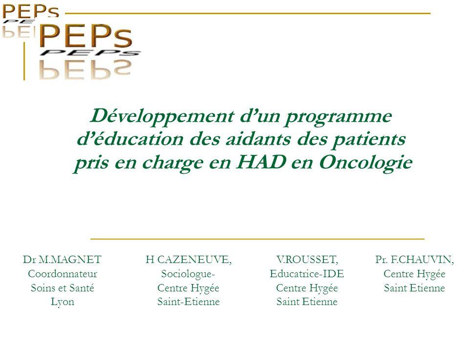 Développement d'un programme d'éducation des aidants des patients pris en charge en HAD en Oncologie