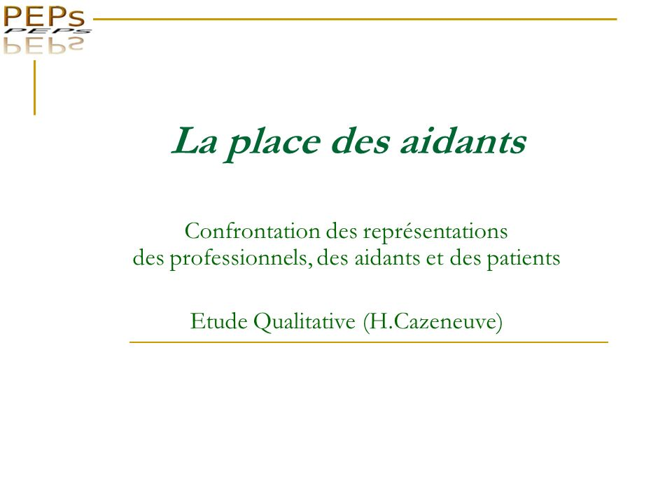 Etude Qualitative (H.Cazeneuve)