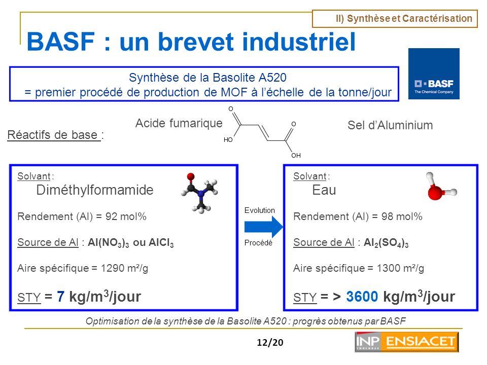 BASF : un brevet industriel