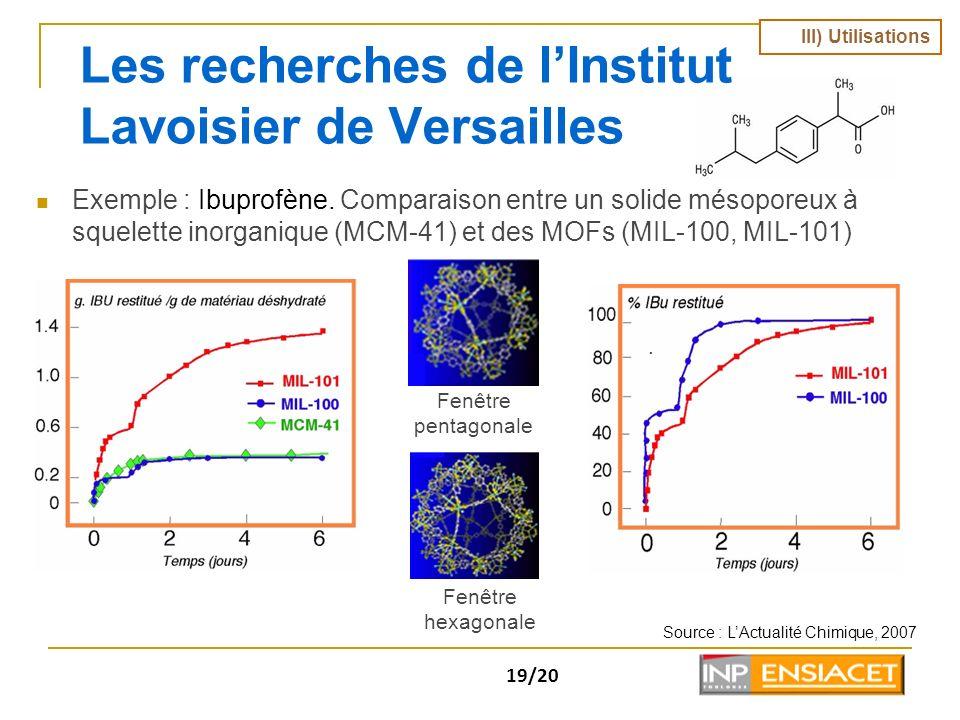 Les recherches de l'Institut Lavoisier de Versailles