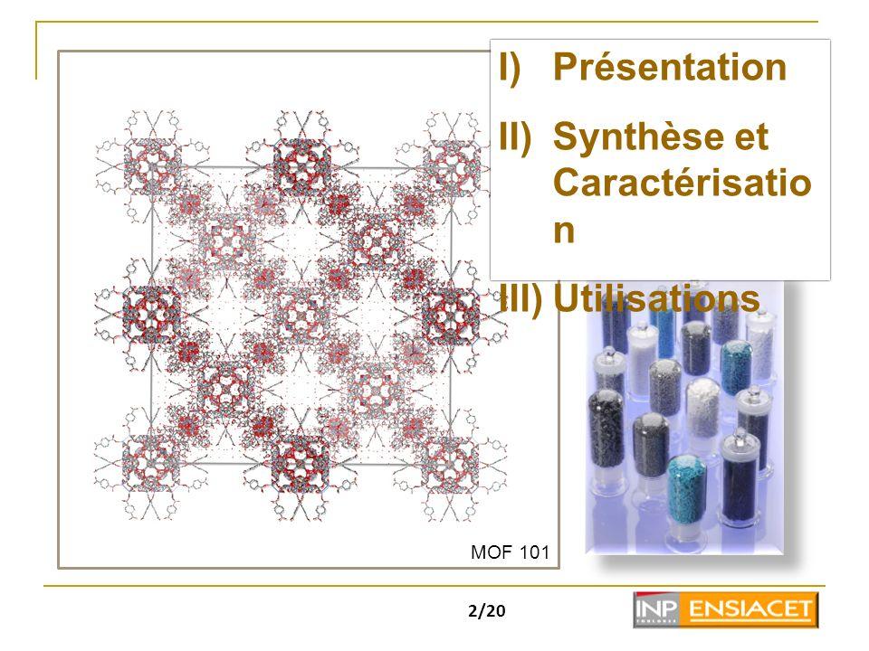 Synthèse et Caractérisation