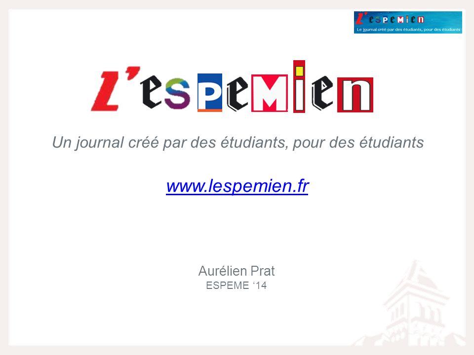 Un journal créé par des étudiants, pour des étudiants