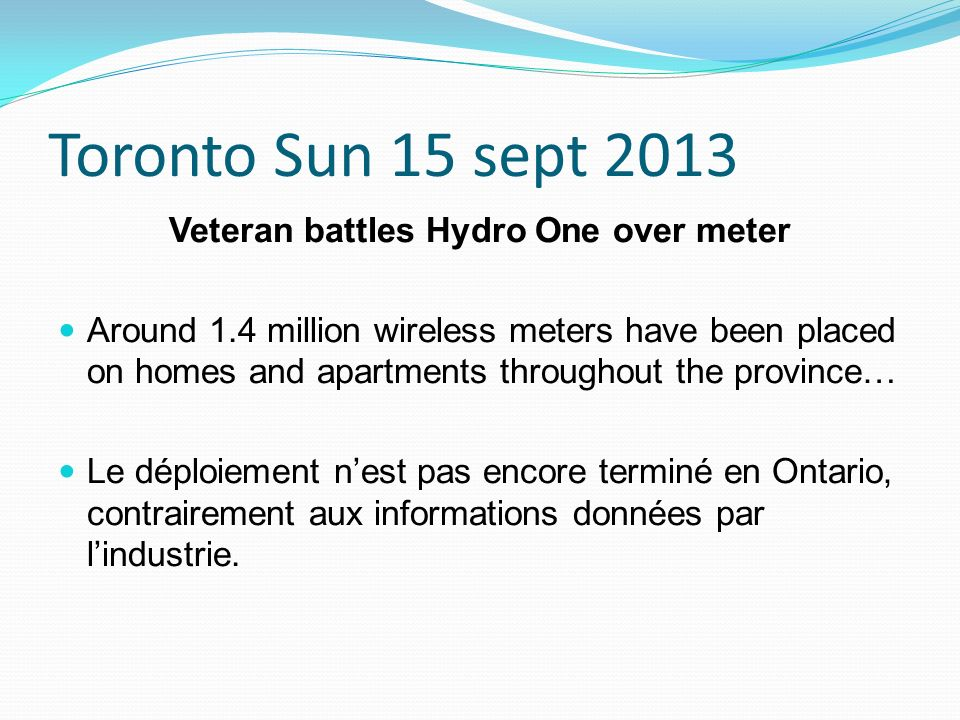Veteran battles Hydro One over meter