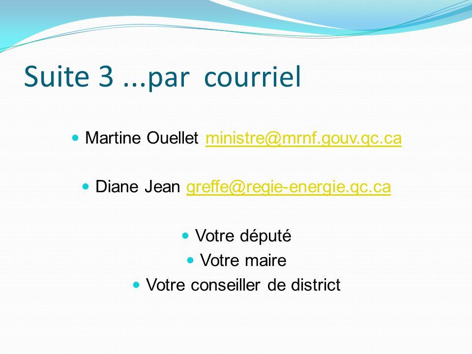 Suite 3 ...par courriel Martine Ouellet ministre@mrnf.gouv.qc.ca