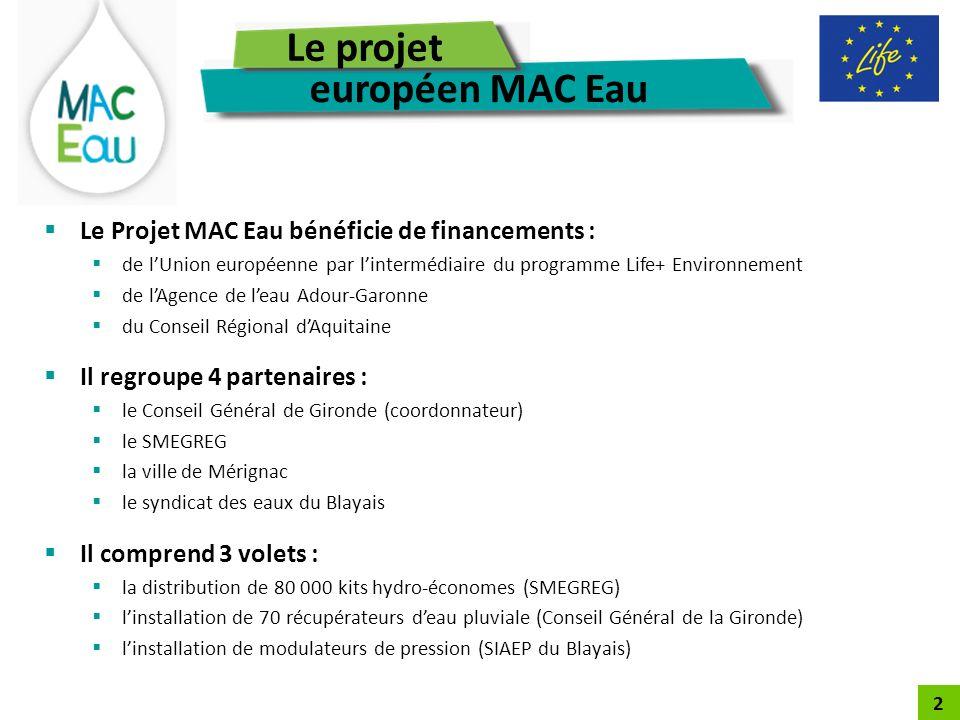 Le projet européen MAC Eau