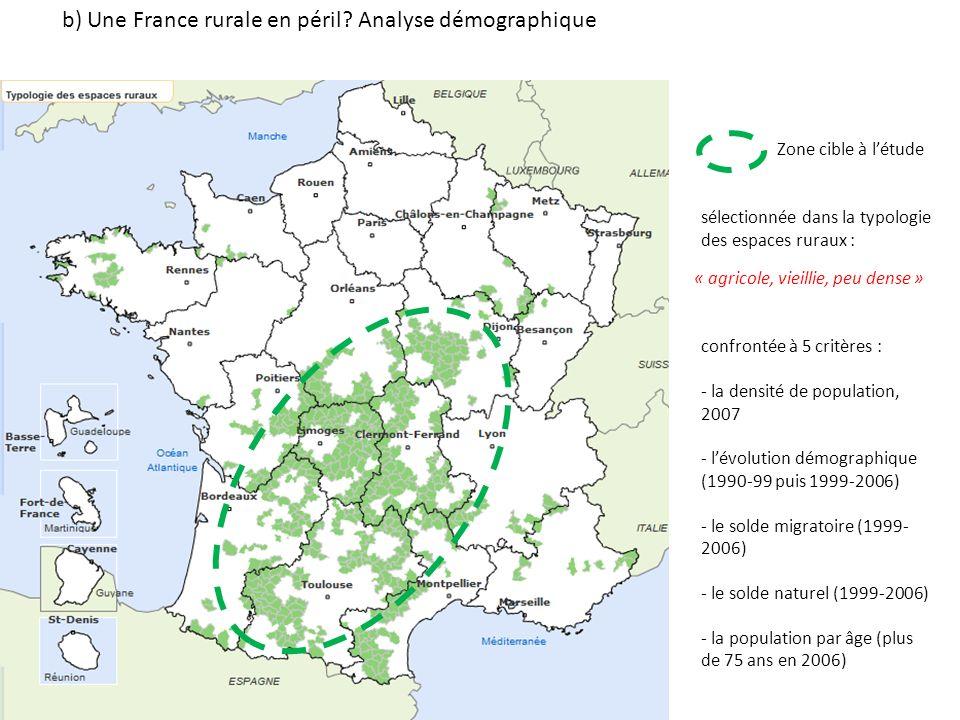 b) Une France rurale en péril Analyse démographique