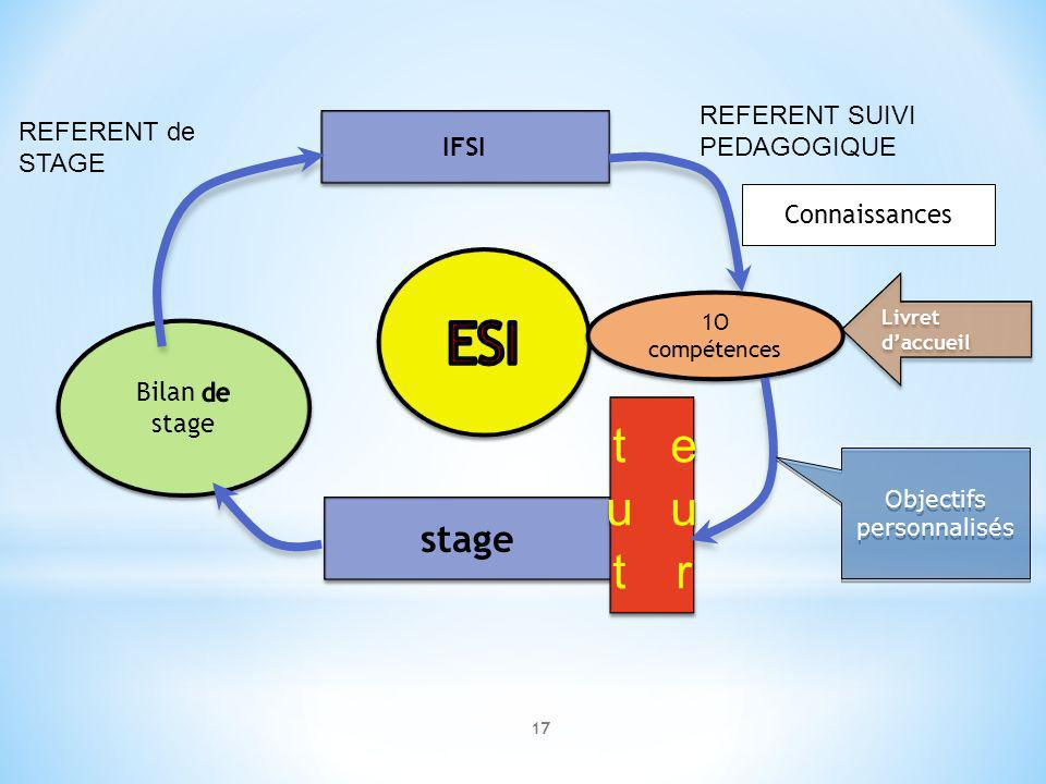 ESI tuteur stage REFERENT SUIVI PEDAGOGIQUE REFERENT de STAGE IFSI
