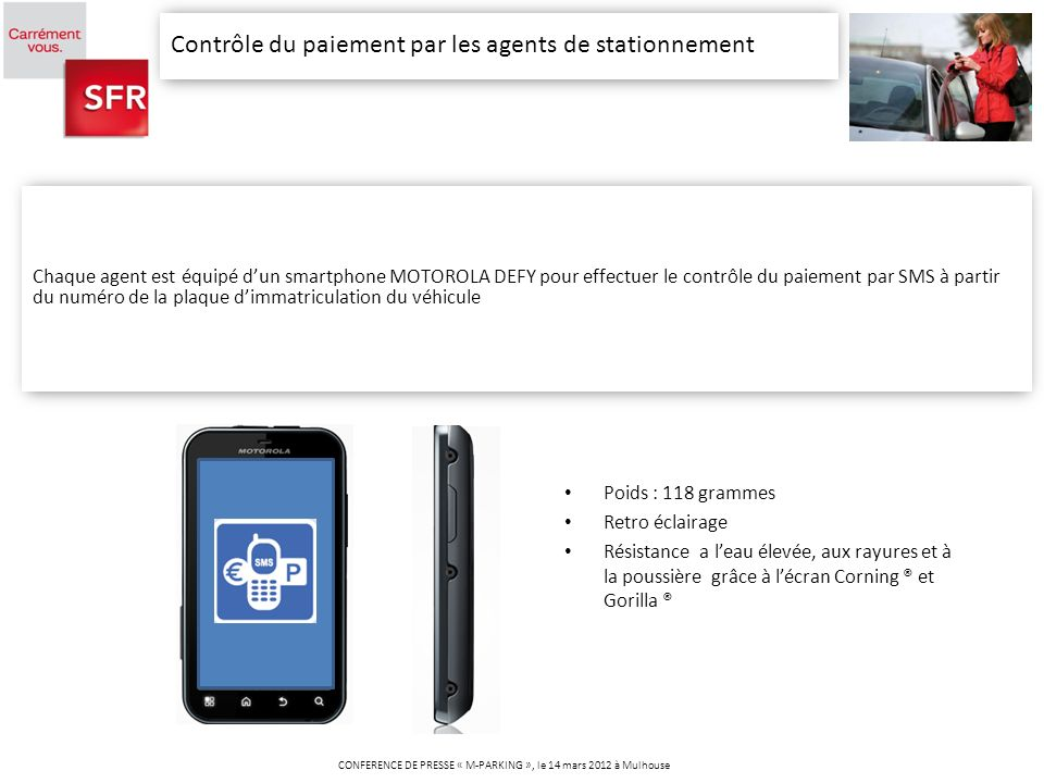 CONFERENCE DE PRESSE « M-PARKING », le 14 mars 2012 à Mulhouse
