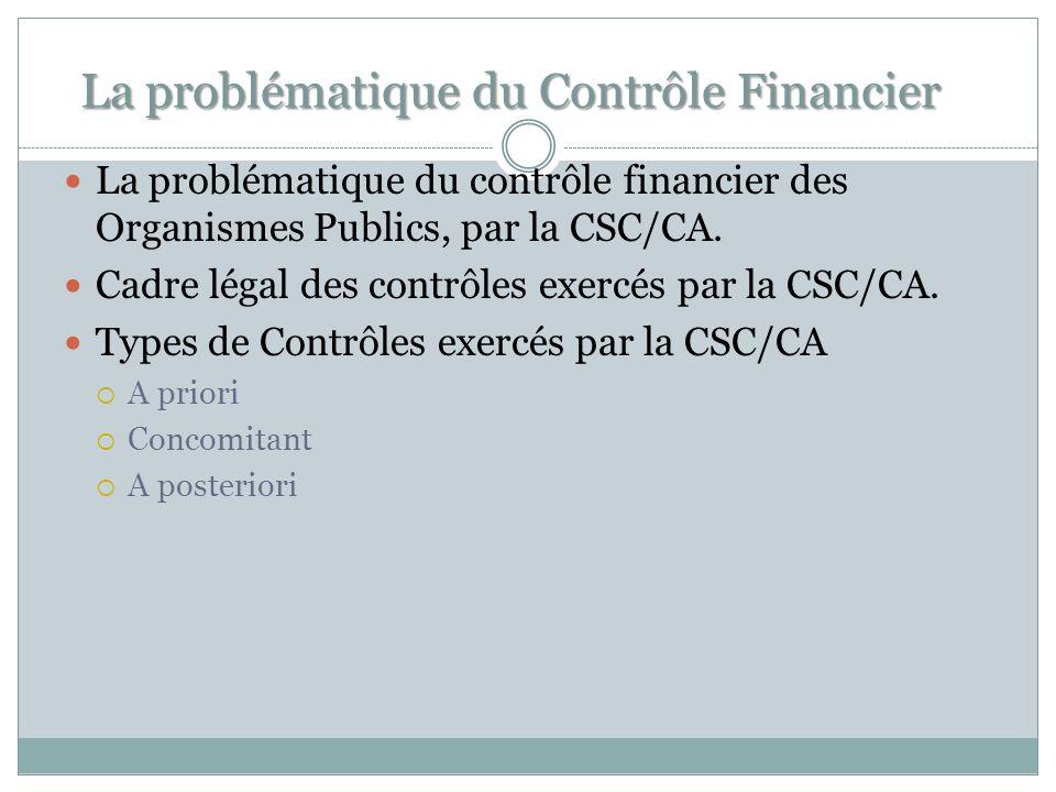 La problématique du Contrôle Financier