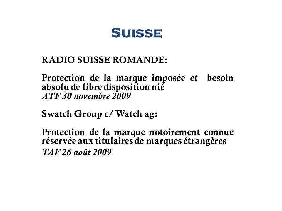 Suisse RADIO SUISSE ROMANDE: