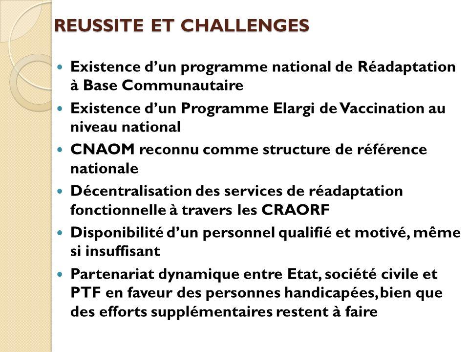 REUSSITE ET CHALLENGES
