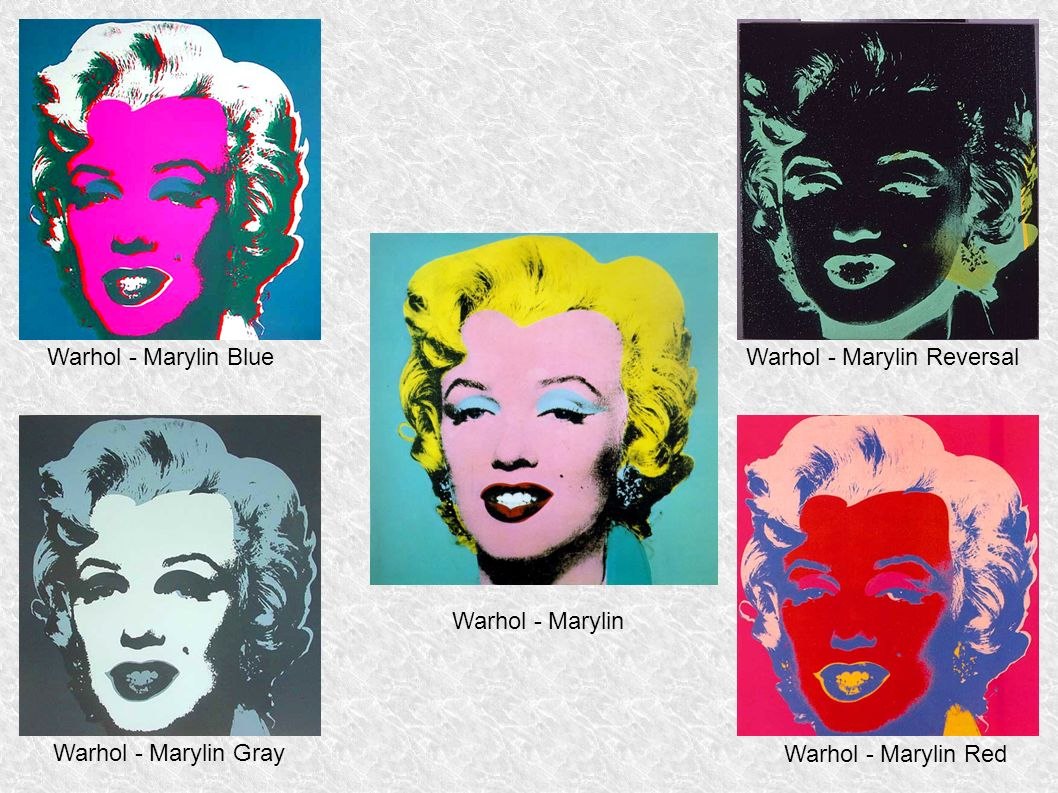 Warhol - Marylin Blue Warhol - Marylin Reversal. Warhol - Marylin.