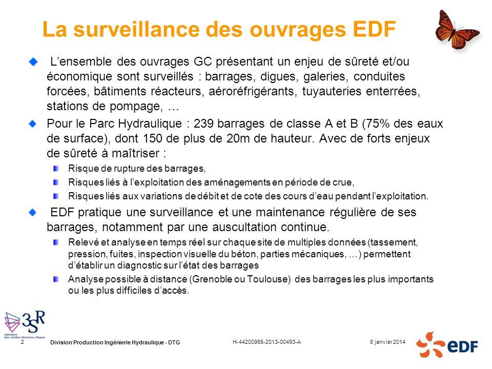 La surveillance des ouvrages EDF