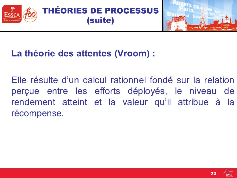THÉORIES DE PROCESSUS (suite)