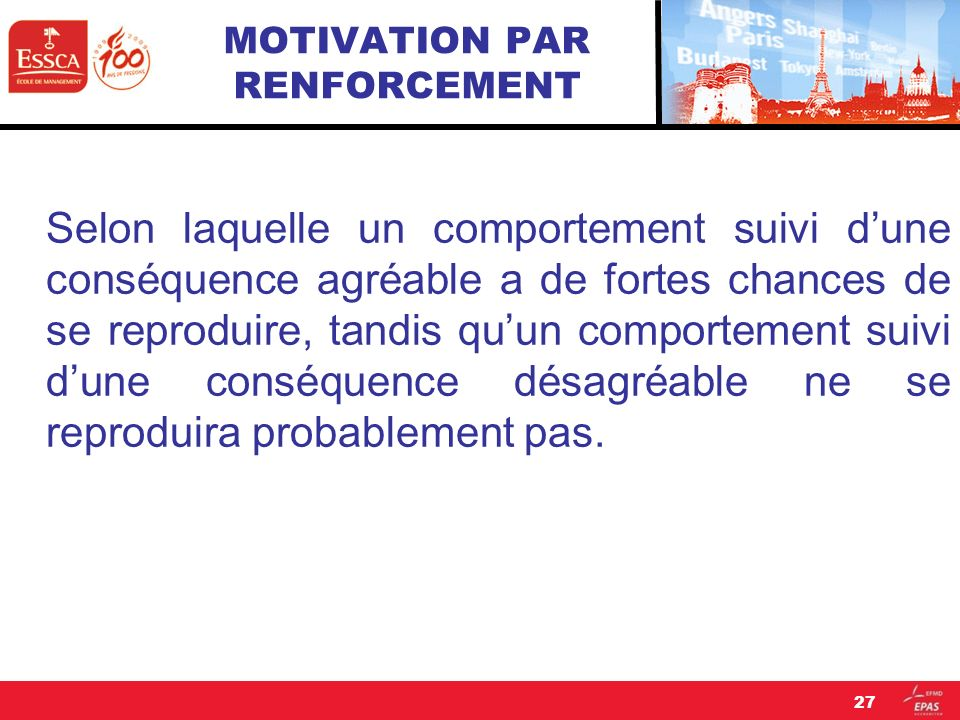 MOTIVATION PAR RENFORCEMENT