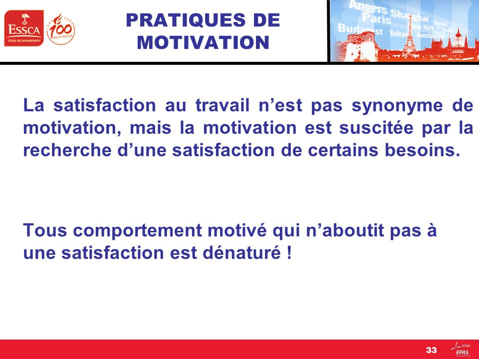 PRATIQUES DE MOTIVATION