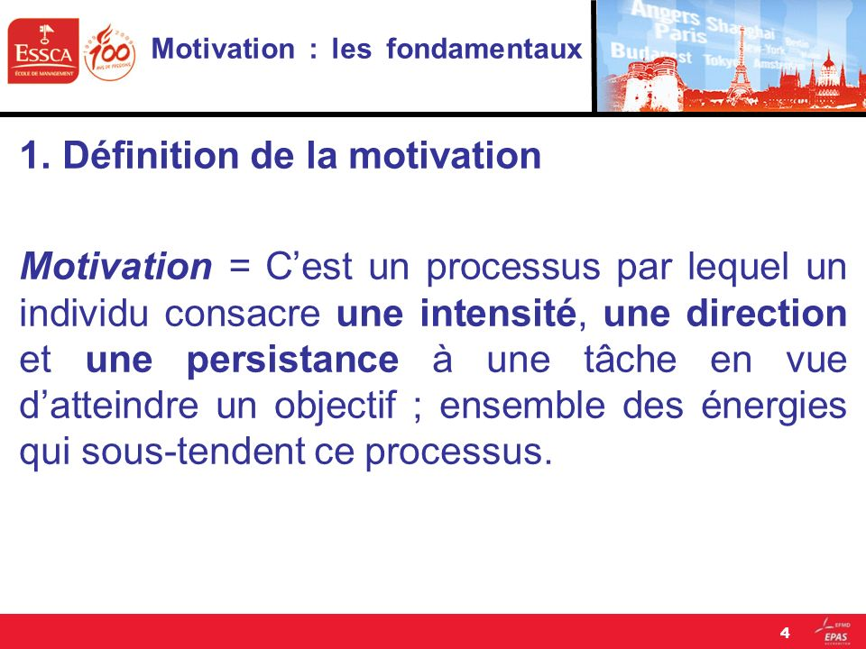 Motivation : les fondamentaux