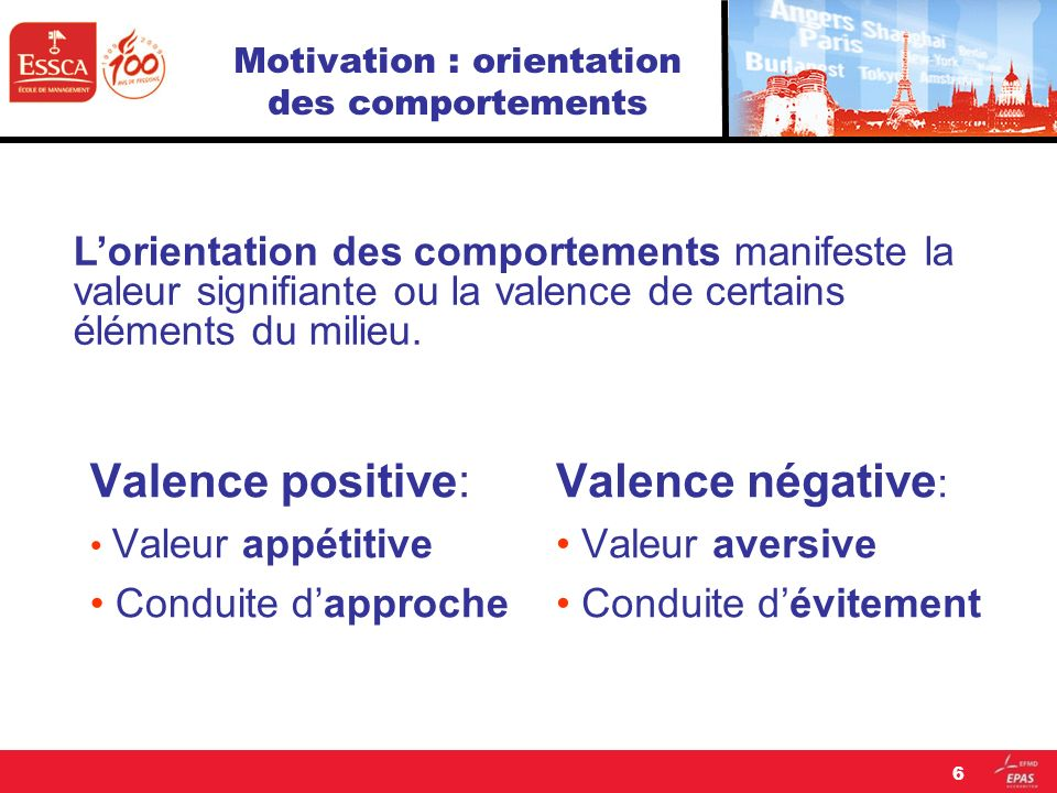 Motivation : orientation des comportements