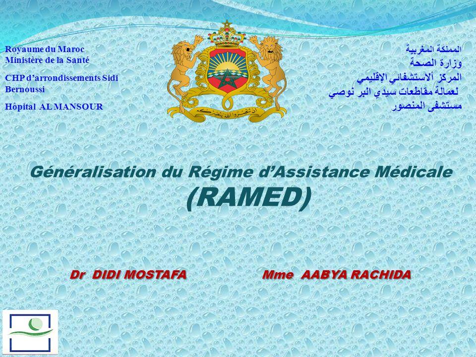 Généralisation du Régime d'Assistance Médicale (RAMED)