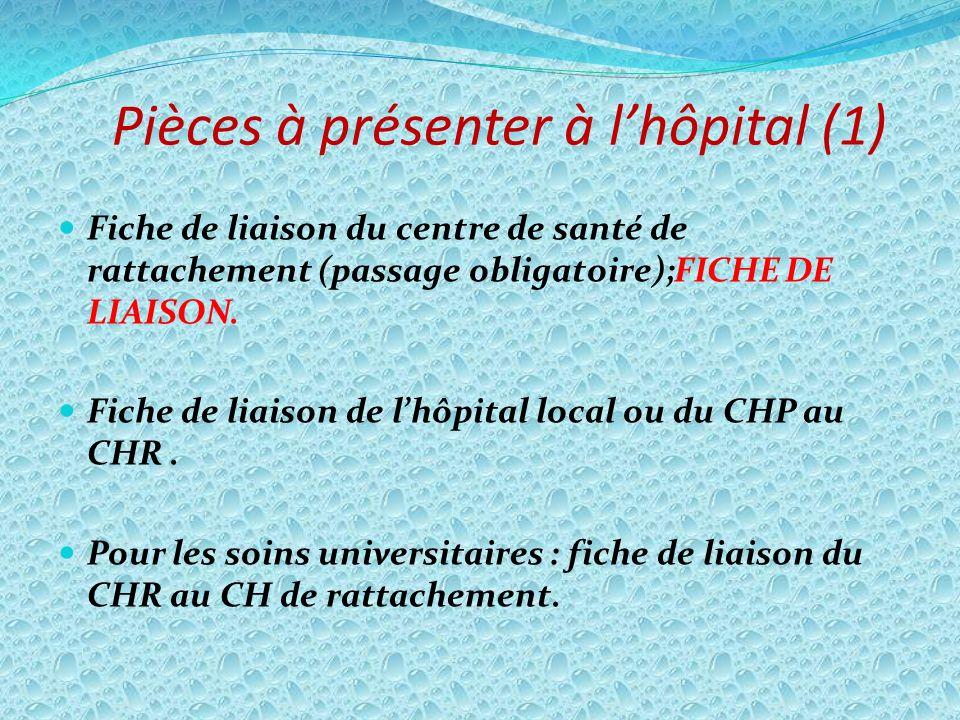 Pièces à présenter à l'hôpital (1)