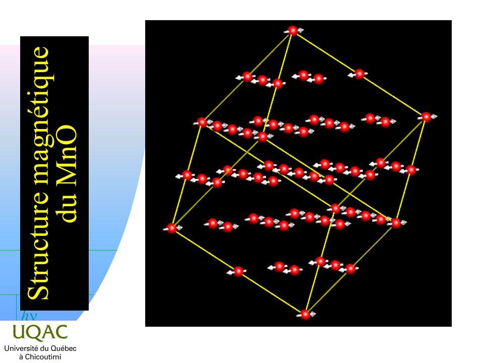 Structure magnétique du MnO
