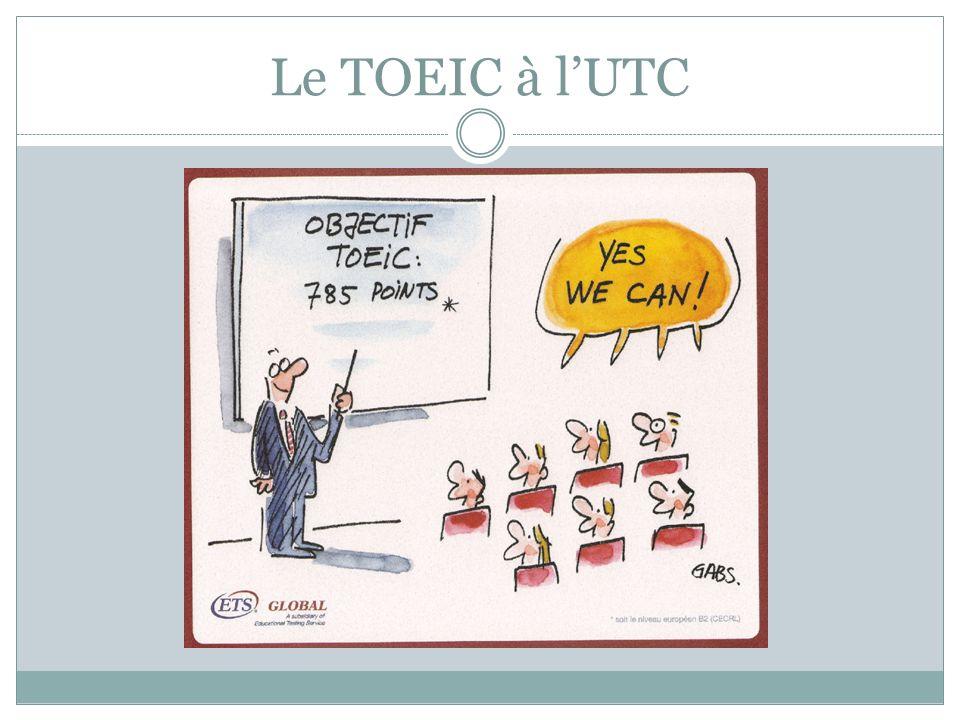 Le TOEIC à l'UTC