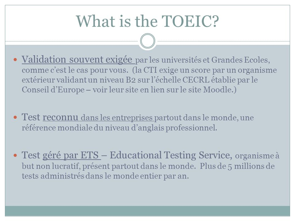 What is the TOEIC