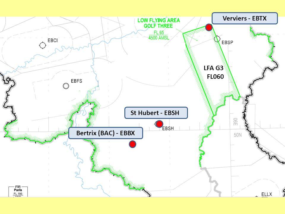 Verviers - EBTX LFA G3 FL060 St Hubert - EBSH Bertrix (BAC) - EBBX