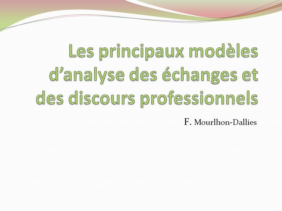 Les principaux modèles d'analyse des échanges et des discours professionnels