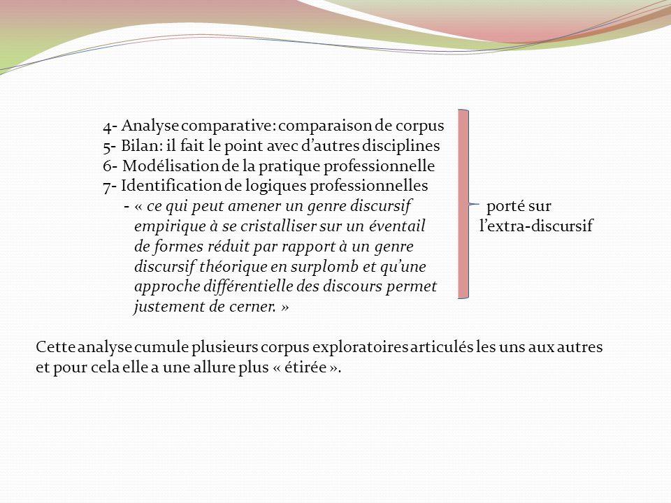 4- Analyse comparative: comparaison de corpus