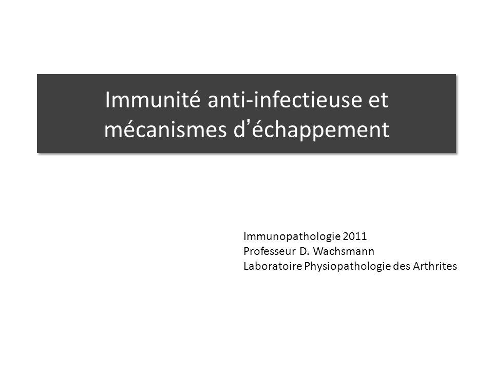 Immunité anti-infectieuse et mécanismes d'échappement