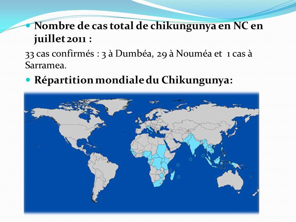 Nombre de cas total de chikungunya en NC en juillet 2011 :