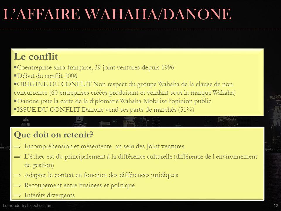 L'AFFAIRE WAHAHA/DANONE