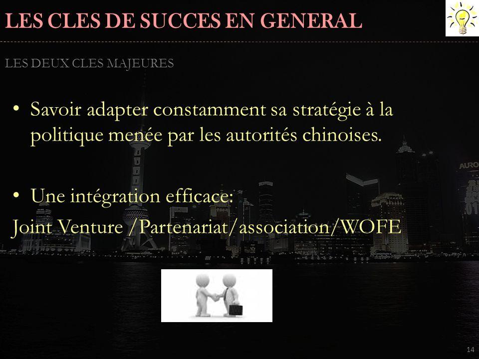 LES CLES DE SUCCES EN GENERAL