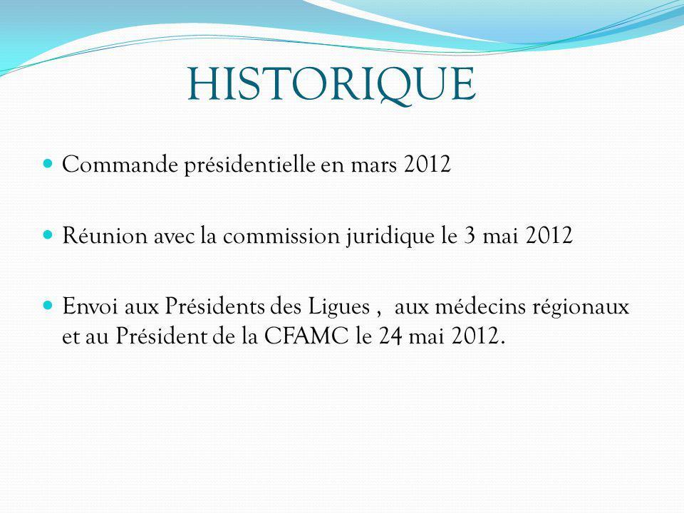HISTORIQUE Commande présidentielle en mars 2012