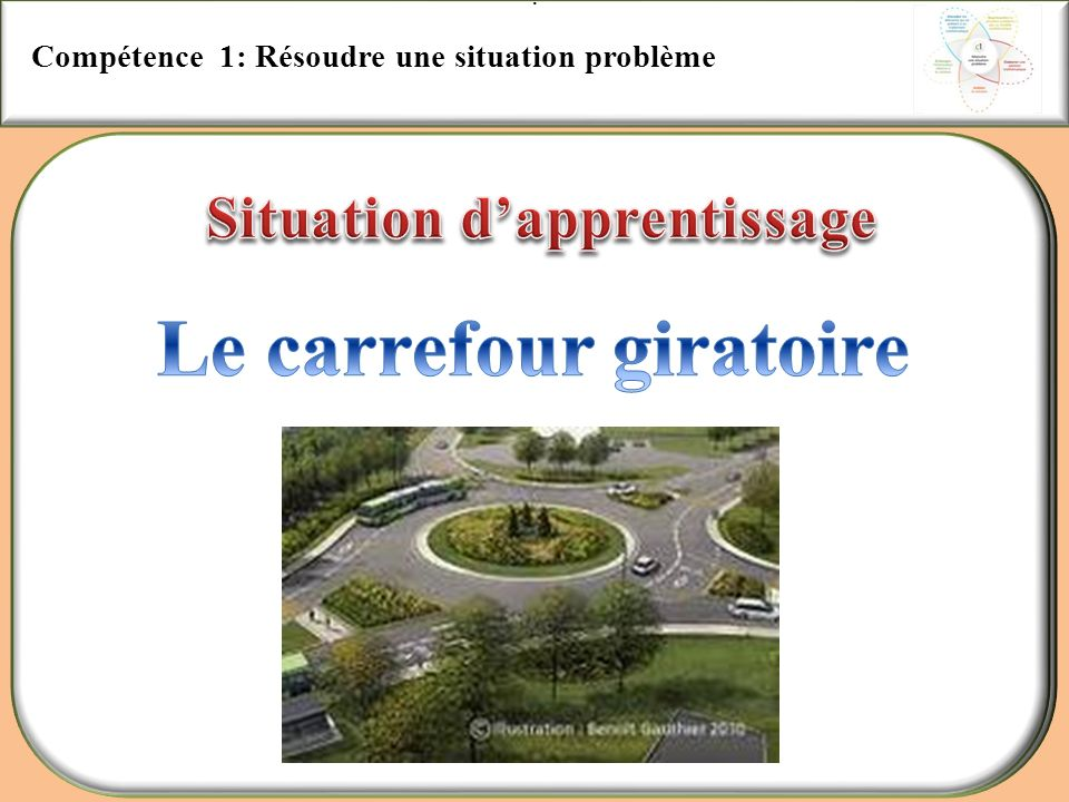 Situation d'apprentissage Le carrefour giratoire