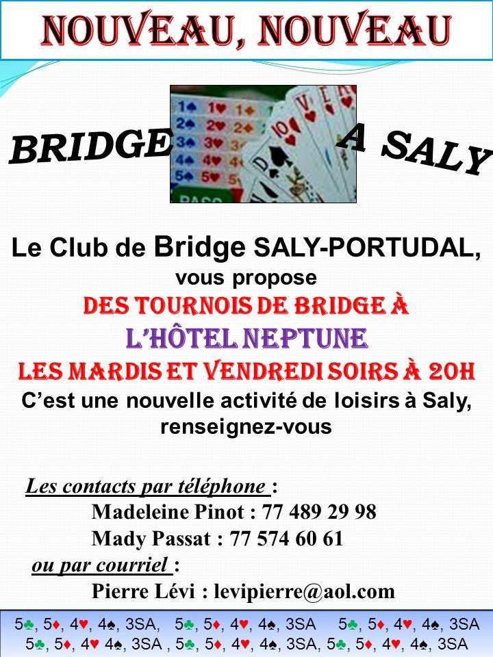 NOUVEAU, NOUVEAU A SALY BRIDGE l'hôtel neptune