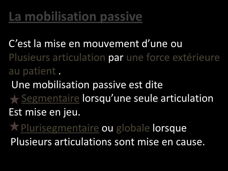 La mobilisation passive