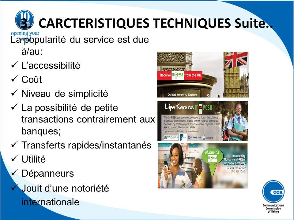 3. CARCTERISTIQUES TECHNIQUES Suite..